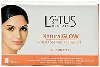 Juego de 4Lotus Herbals completa 5paso piel brillo natural Radiance único Facial Kit apto para todos los tipos de piel 50g