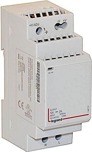 Bticino (146711 Spannungsversorgung 12VDC 2A, 2-modulig,Versorgungsspannung 100-240 VAC