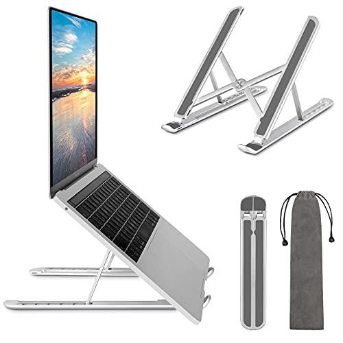 TECOOL Supporto PC Portatile, Leggero Supporto per Computer Pieghevole in Alluminio Notebook Riser Regolabile Ventilato per MacBook PRO, Surface, iPad, dell, Tutti i Laptops/Tablets da 9,7