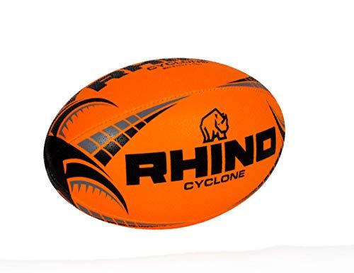 RHINO RUGBY Cyclone Practice Ball | Fluorescent Orange | Size
