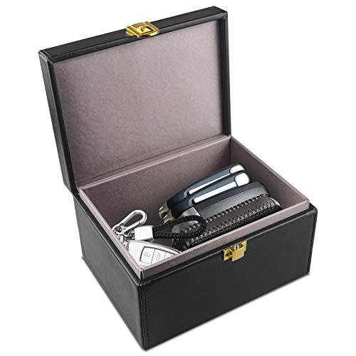 OFUN Faraday Caja para Llaves de Coche, ECaja de Bloqueo de señal de Llave de Coche Grande, Funda de Bloqueo de señal antirrobo para teléfonos, Tarjetas, Llamadas y RFID/WiFi/gsm/LTE/NFC (clásico)