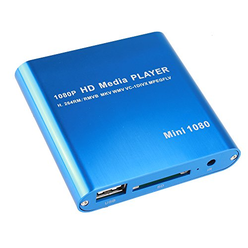 AGPtEK Mini 1080P Full HD Digital Media Player - MKV/ RM-SD/ USB HDD-HDMI