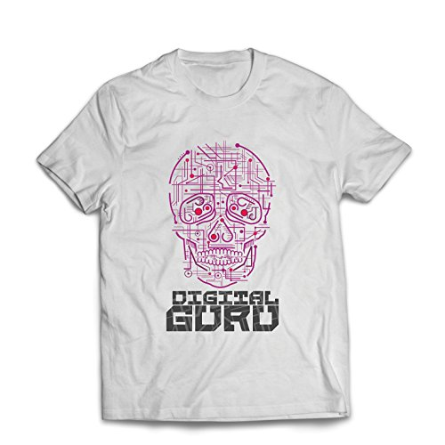 lepni.me Männer T-Shirt Der Digitale Guru - technologische, Computer, Programer oder Gamer Geschenkideen (Medium Weiß Mehrfarben)