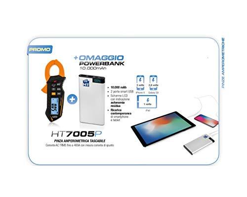 HT7005P Promo aanbieding Amperometrische tang HT7005 + powerbank 10000mAh oplader smartphone tablet HT7005P