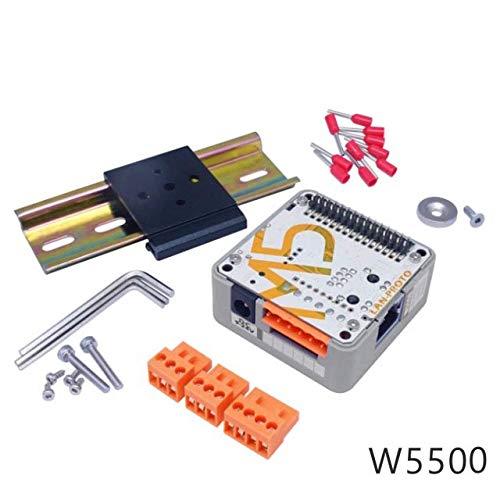 DollaTek M5 ESP32 Zubehör SPS-Prototyp Industrial Logic Controller Relay Magnet DIN-Schiene stapelbar IOT für M5 ESP32 Kit, einschließlich RS485-Adapter