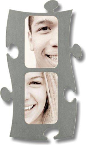 Unbekannt Puzzle Rahmen, 2 mal 10x15cm - grau