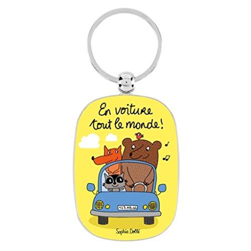 Porte-clés OPAT En voiture tout le monde - Derrière la porte
