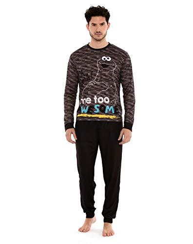 Pijama Hombre Monstruo de Las Galletas Negro (XXL