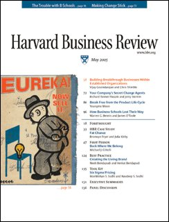 Harvard Business Review, May 2005 copertina