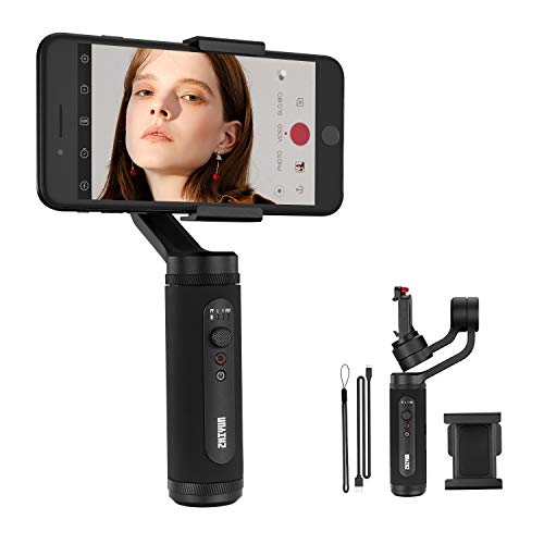 Zhiyun Smooth Q2 3-Asixs Handheld Stabilisateur de Gimbal Poids Léger Portable pour Lisse Youtube Vlog Vidéo Compatible avec Smartphone iOS/Android Téléphone Contrôle APP 17 Heures deTravail