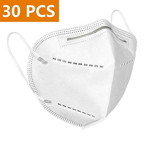 FFP-2 Masken N-95 Masken KN-95 Atemmaske mit Verstellbarem Nasenclip 30 pcs