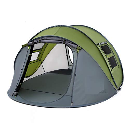 YUANDAKEJI Throwing Tent Outdoor Automatic Tent Throwing Bounce Waterproof Camping Mountaineering Tent Waterproof Large Apartment Tent,Single Green Small