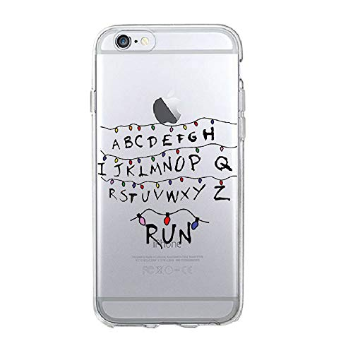 RENGMIAN Stranger Things Christmas iPhone Case Transparent Soft Silicone Cover ST-866 for Cover iPhone 7 Plus/for Cover iPhone 8 Plus