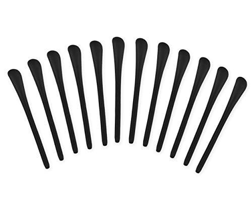 SCSpecial 6 Paare brillenbügel überzug für Bügelenden Silikon Antirutsch Überzüge für Brillen Sonnenbrillen (schwarz)