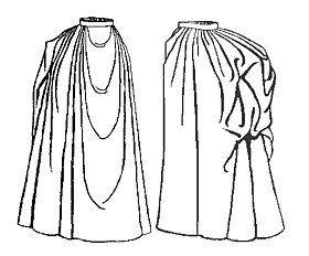 1889 Draped Skirt Pattern