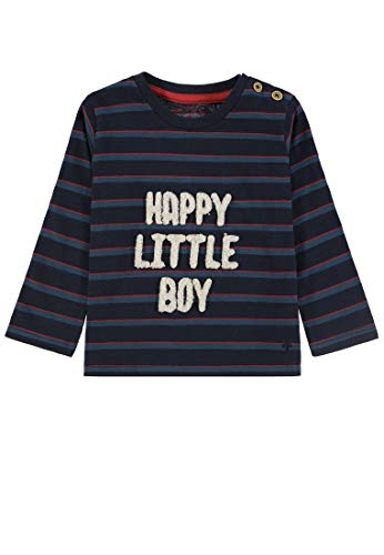 TOM TAILOR Kids T-Shirt Striped, Bleu (Navy Blazer|Blue 3105), 68 Bébé garçon