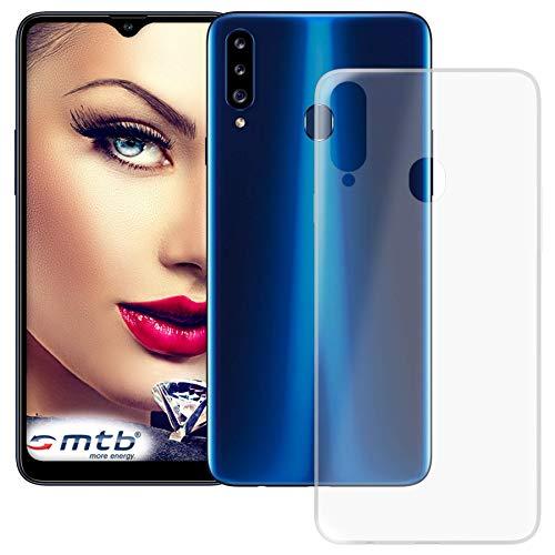 mtb more energy® Hülle Clear und Slim für Samsung Galaxy A20s (SM-A207, 6.5'') - transparent - flexibel - TPU Silikon Schutzhülle Hülle Cover Tasche
