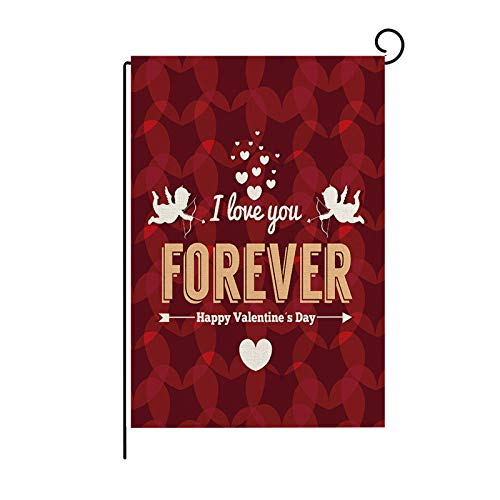 Janly Clearance Sale Decoration & Hangs, Valentine's Day Garden Flag Street road Printing Outdoor Decoration Flag, for Christmas Home & Garden Decorate, (F)
