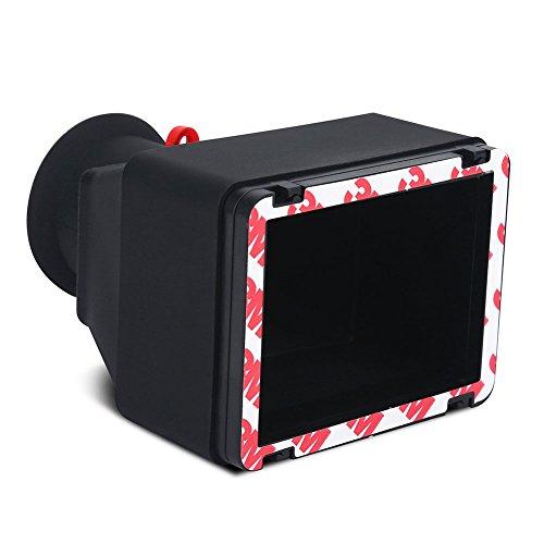 Tosuny Kamerasucher Displaylupe Sucherlupe Robustes 3,2 Zoll LCD-Sucher mit 3X Vergrößerung für spiegellose DSLR-Kameras mit 3,2 Zoll Bildschirm