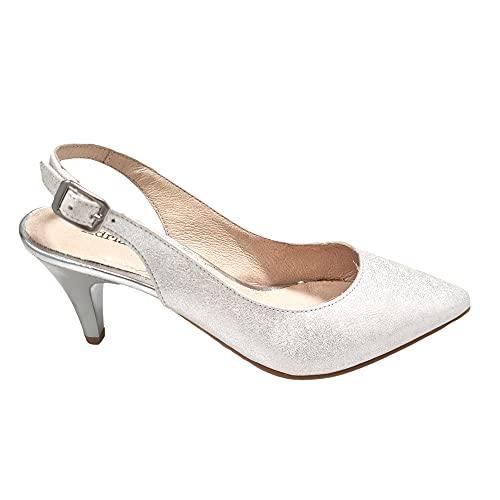 Adriann Lasconi - Zapato de salón Plata - Cuero para: Mujer Color:...