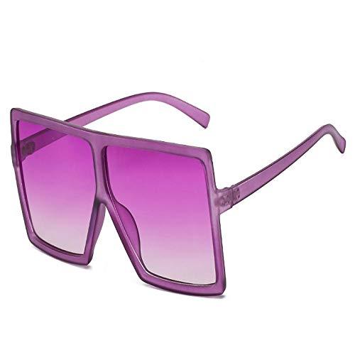Occhiali da Sole Sunglass Occhiali da Sole Quadrati Oversize Fashion Designer Grandi tonalità per Le Donne Occhiali di Plastica Occhiali da Uomo alla Moda Viola Viola