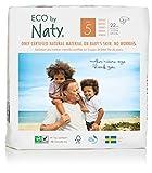 Eco by Naty Premium Einmalwindeln für empfindliche Haut, Größe 5, 11-25 kg, 6er Pack (6 x 22 Stück)