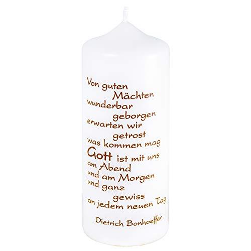 Fritz Cox® - Spruchkerze 'Von guten Mächten' Dietich Bonhoeffer 150 x 60 mm