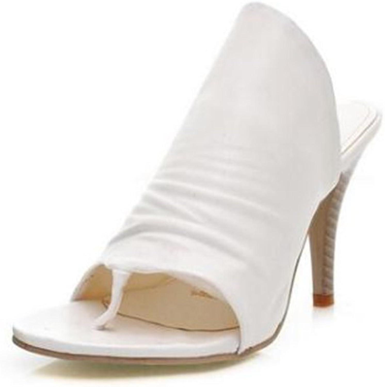 Women's shoes PU Summer Fall Sandals Walking shoes Flat Heel Stiletto Heel Open Toe shoes Party & Evening