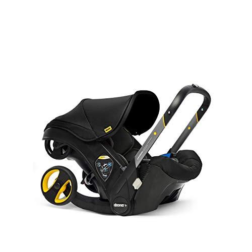 Doona+ 0+ Kindersitz - Von Autositz zum Buggy in Sekundenschnelle [0-15 Monate] (Nitro Black/schwarz)