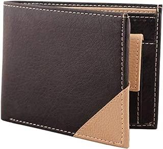 DESIGNER BUGS Men Black & Beige Artificial Leather Wallet (5 Card Slots)