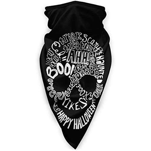 Halloween Phrases Windproof Sports Face Cover Mouth Cover Magic Scarf, Bandana, Balaclava for Women&Men,Kids