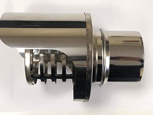 Terminal de chimenea de pellets con montura M macho y conducto de humos de acero inoxidable (D 80 mm)
