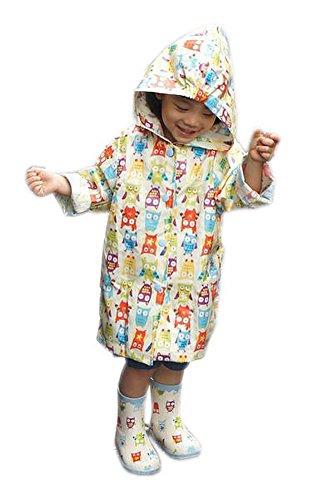 Funny Blanc chouettes pluie pour les tout-petits Housse de pluie, 2–3 ans