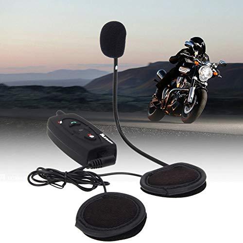 YSHtanj - Auricular interfono para motocicleta con Bluetooth V2, 500 m, para 2 conductores, color negro