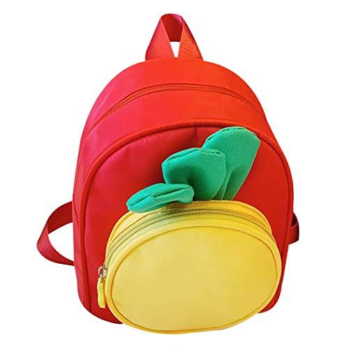 COOFIT voorschoolrugzak leuke wortel-mini-rugzak kleine kindrugzak kinderrugzak, rood (rood) - J213W55546SLKV2