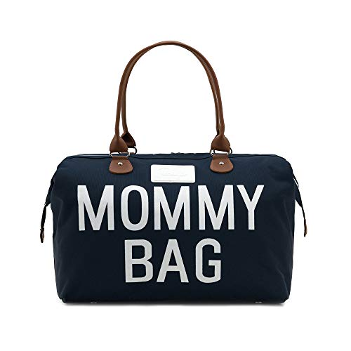 CHQEL Baby Diaper Bag, Mommy Bags for Hospital & Functional Large Baby Diaper Travel Bag for Baby Care (Navy Blue)