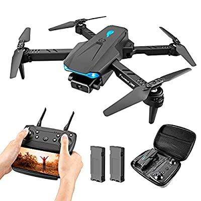 Drone with 4K Camera for Adults, VAIPI S89 Foldable Drone with Gravity Sensor, Gesture Control and Headless Mode, Quadcopter with Carrying Case for Kids and Beginners by Vsdfjosdf
