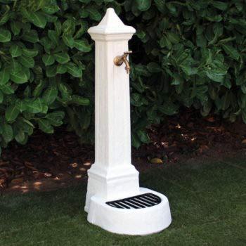 Fontana da Giardino Esterno in Cemento Pietra KAM modello LECCE colore Bianco