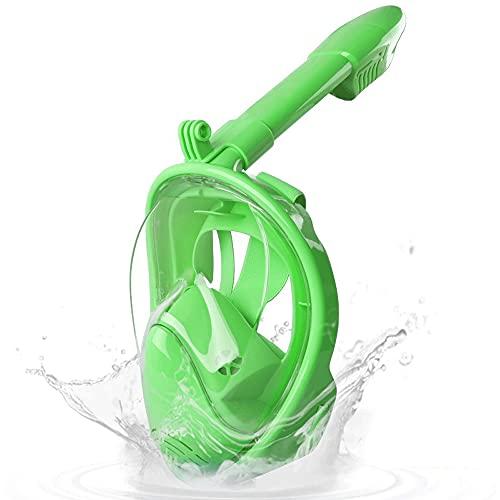 DOPN Máscara de esnórquel para niños, máscara subacuática con área deportiva de 180°, sistema de visión panorámica anticongelante para niños
