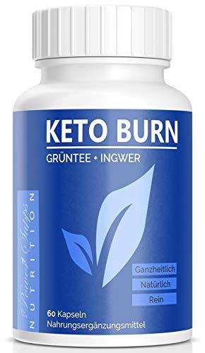 PowerSupps KETO BURN Kapseln EXTREM mit natürliche Inhaltsstoffe wie Grüntee, Ingwer, Koffein und Cayennepfeffer – VEGAN - hergestellt in Deutschland (1)