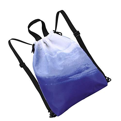YCYUYK Bolsa con cordón para gimnasio, repelente al agua, bolsa deportiva, asa