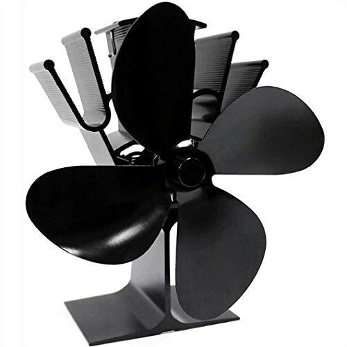 Accesorios de Ventilador 4 Aspas - Ventilador de Estufa Ventilador de Quemador de Madera/Leña con Calefacción Ventilador de Leña/Leña Ecológico/C