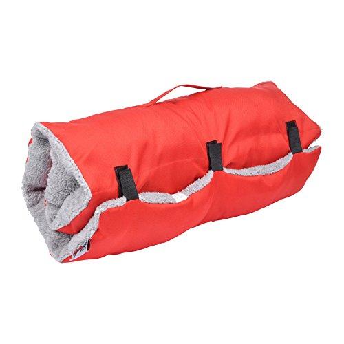 CODICO–Colchón de Viaje (poliéster y Sherpa) para Perro - Bicolor