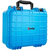 Eylar Tactical Hard Gun Case Water & Shock Proof with Foam 13.37 inch 11.62 inch 6 inch Light Blue