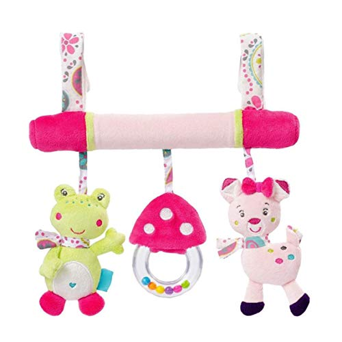 Cochecito de bebé juguetes colgantes de la actividad en torno Cuna juguetes de peluche con sonido BB Juguetes para niños