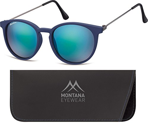 Montana Eyewear Sunoptic MS33A Sonnenbrille in blau aus Kunststoff, inklusive Softetui