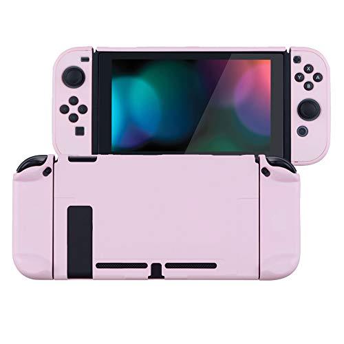 eXtremeRate Hülle für Nintendo Switch Konsole Joycon, Case Hülle Schutzhülle Griff Tasche Zubehör für NS Joycon Konsole,trennbare Schale,andockbare Schutzhülle für Nintendo Switch(Pink)