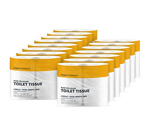 AmazonCommercial – Toilettenpapier, 2-lagig, reine Zellulose, 60 Rollen