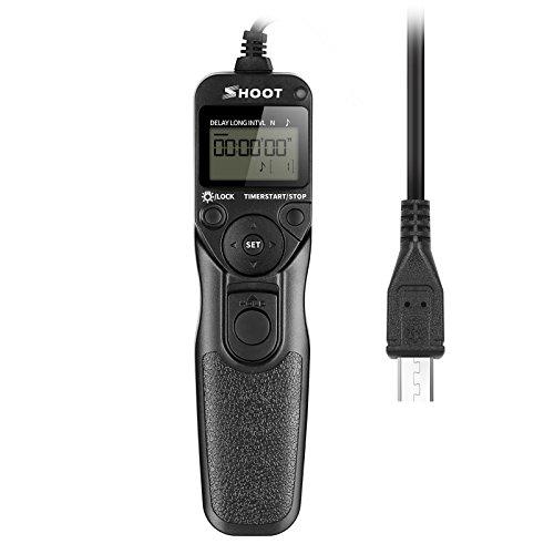 SHOOT RM-vpr1 Cable del Disparador Remoto del Temporizador de Pantalla LCD para Sony Alpha A7 A7R A7II A3000 A6000 SLT-A58 NEX-3NL DSC-HX300 DSC-RX100M3 DSC-RX100M2 DSC-RX100II DSC-RX100III Cámaras