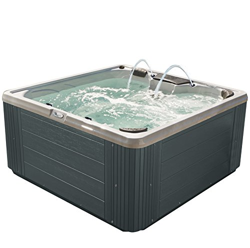 Essential Hot Tubs 30-Jet Adelaide Hot Tub, Seats 5-6, Gray